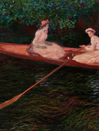 Canoa sobre o Rio Epte, de Claude Monet