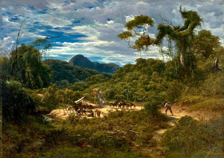 Paisagem nos arredores do Rio