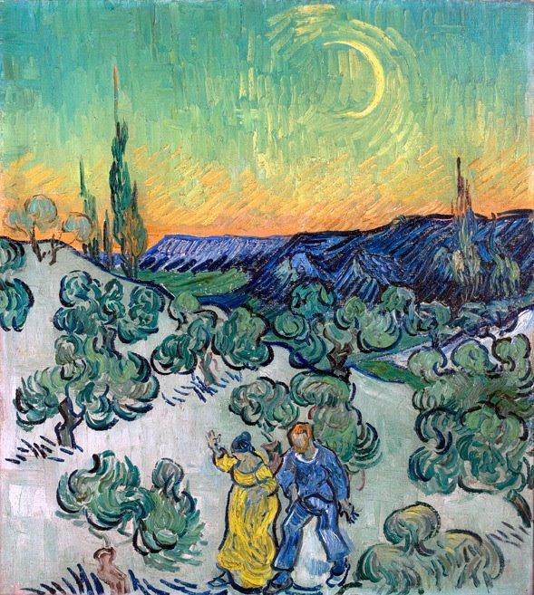 Passeio ao Crepusculo, Vincent Van Gogh
