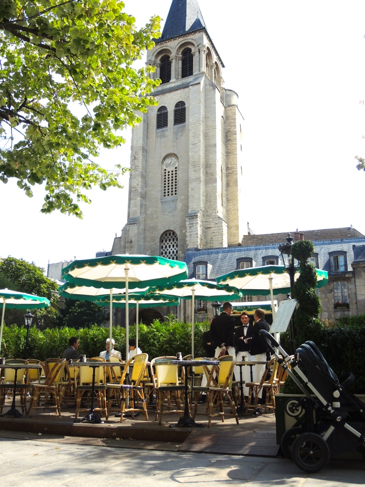 Vista da abadia Saint Germain