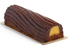 Bûche de ouro negro chocolate e maracujá