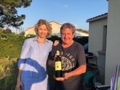 Com Chef Laurent Suaudeau, na região dele, a Vendée, aproveitando de uma noite ensolarada de verão